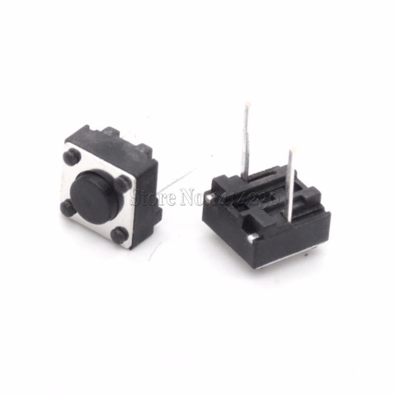 цена на 100Pcs Tactile Switch Momentary Tact 6x6x4.3 6*6*4.3mm Middle pin 2pins