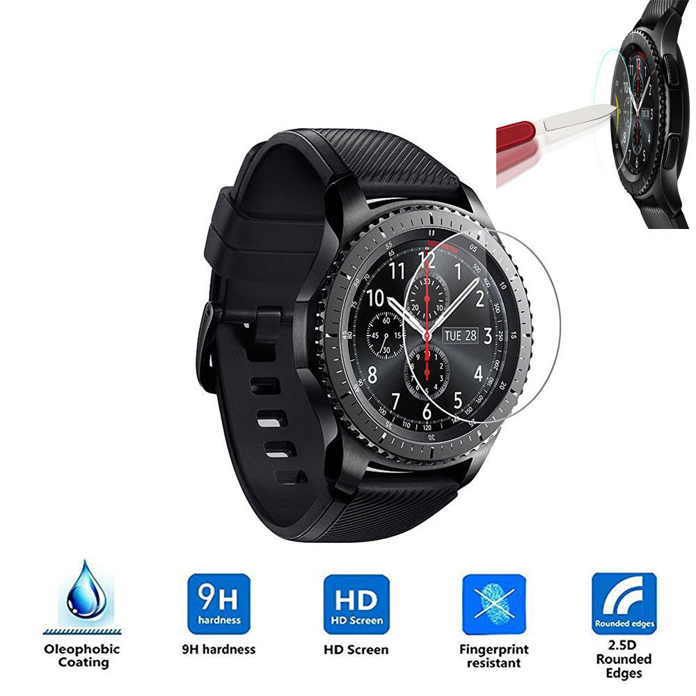 Smart Watch Tempered Film Tempered Glass Film For Samsung Gear S3 Smart Watch 9H Anti Scratch Ultra Thin Screen Protector Film nuglas 9h super hardness ultra slim 0 3mm design tempered glass screen film for samsung galaxy note4 n9100
