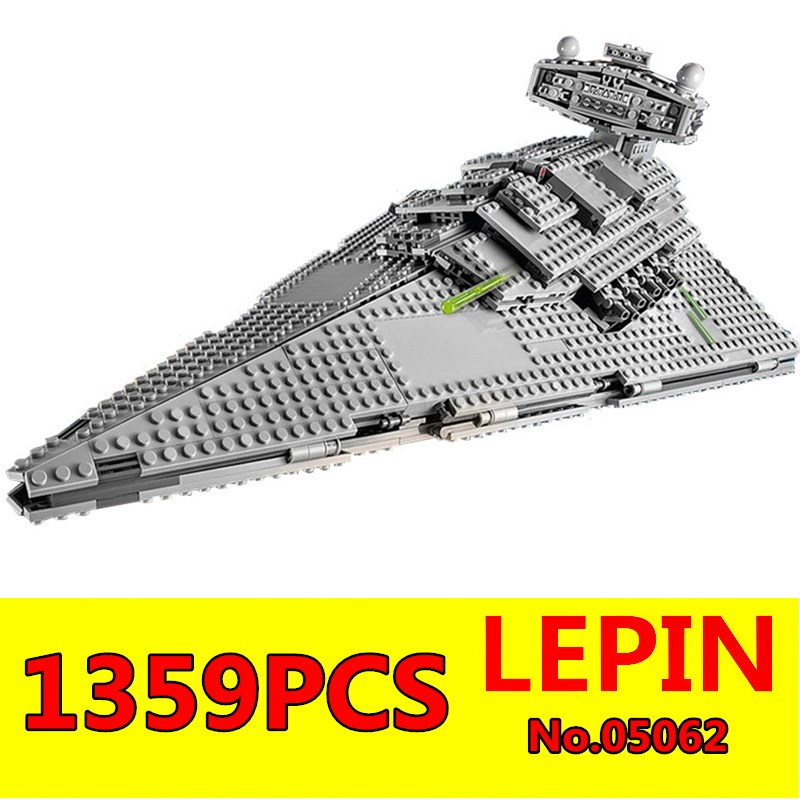 Imperial Star Destroyer Set Building Blocks LEPIN 05062 1359pcs Genuine Star War Series 75055 Bricks Educational Children Toys