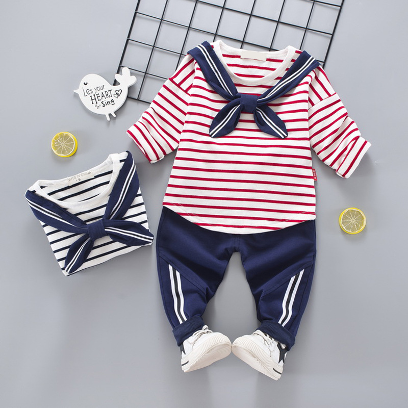 2018 Boys Girls School Wear Uniforms British Style Long-Sleeves Sports Shirt+Casual Pants Kids Clothes Suit