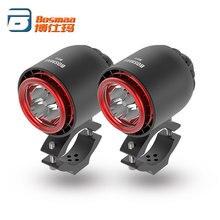 Bómaa farol turbo de led, farol de led para motocicleta com 20w 3400lm 6000k, luz branca para condução e caça, 2 peças