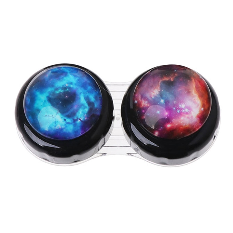 Contact Lens Box Case Portable Travel Outer Space Plastic Eyes Nursing Container