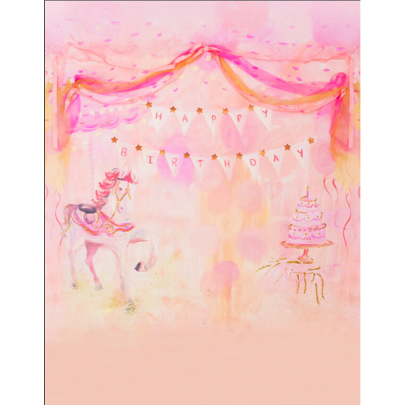 Pink Fairyland Photography Backdrops Computer printed Thin Vinyl Background For Children Party Photo Studio s-1204 circus banner party backdrops vinyl cloth computer printed children photo background circus
