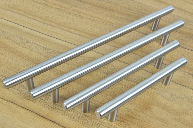 Cabinet Hardware Stainless Steel Bar Pull Handle And Knobs(C.C.:224mm  L:350mm