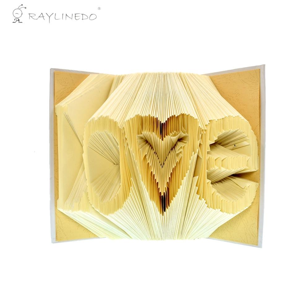 Liebe Formen Handgemachte DIY Papier Buch Folding Journal Notiz Gefaltet Buch Kunst...