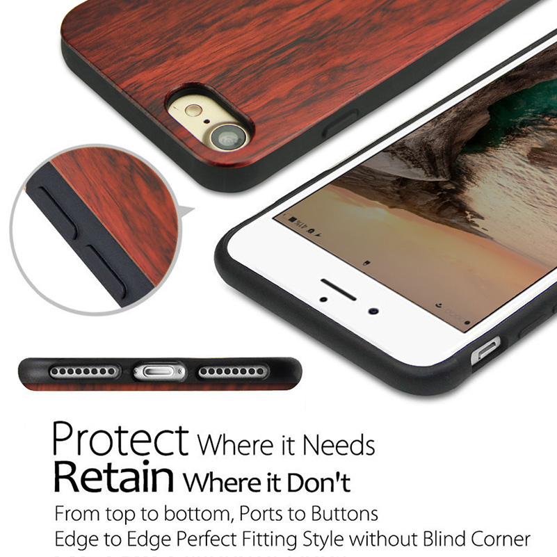 Wood Phone Cases For iPhone 7 Case 8 Natural Bamboo Wooden 2