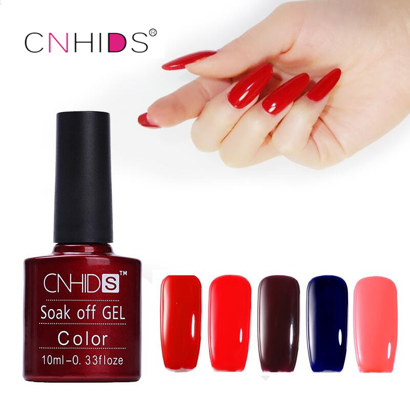 Hot Products CNHIDS 10PC Nail Gel Polish UV&LED Shining Colorful 132 Colors10ML Long lasting soak off Varnish cheap Manicure