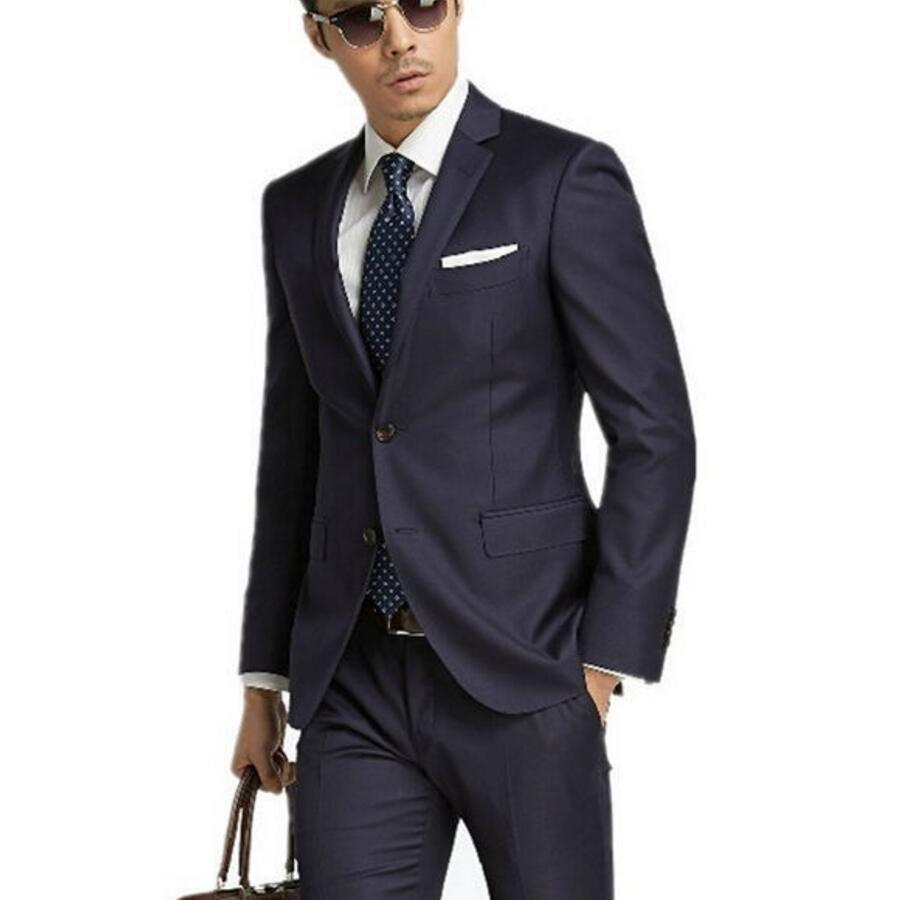 Youth fashion business men's cultivate one's morality leisure suit gentleman single-breasted suit two-piece (jacket + pants)