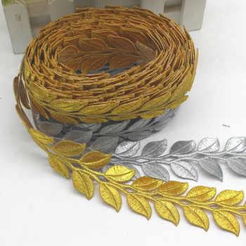 YACKALASI 6 Yard/Lot Gold Cosplay Costume Braid Embroidered Lace Diy Applique Trims Iron On Gold and Sliver Metallic Lace 3.8CM - DISCOUNT ITEM  16 OFF Home & Garden