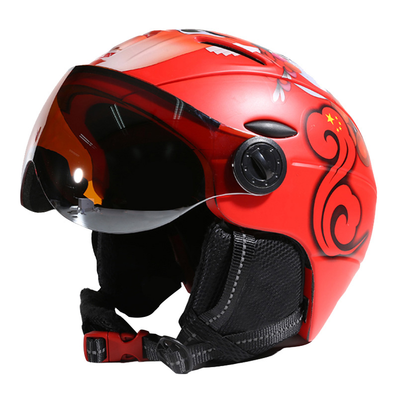 MOON Goggles Skiing Helmet Integrally molded PC EPS CE Certificate font b Ski b font Helmet