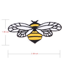 1Pcs Decoration Patch DIY Apparel Handmade bead Bee Beaded Patch for Clothing Iron on Beading Applique Clothes Shoes Bags(China)