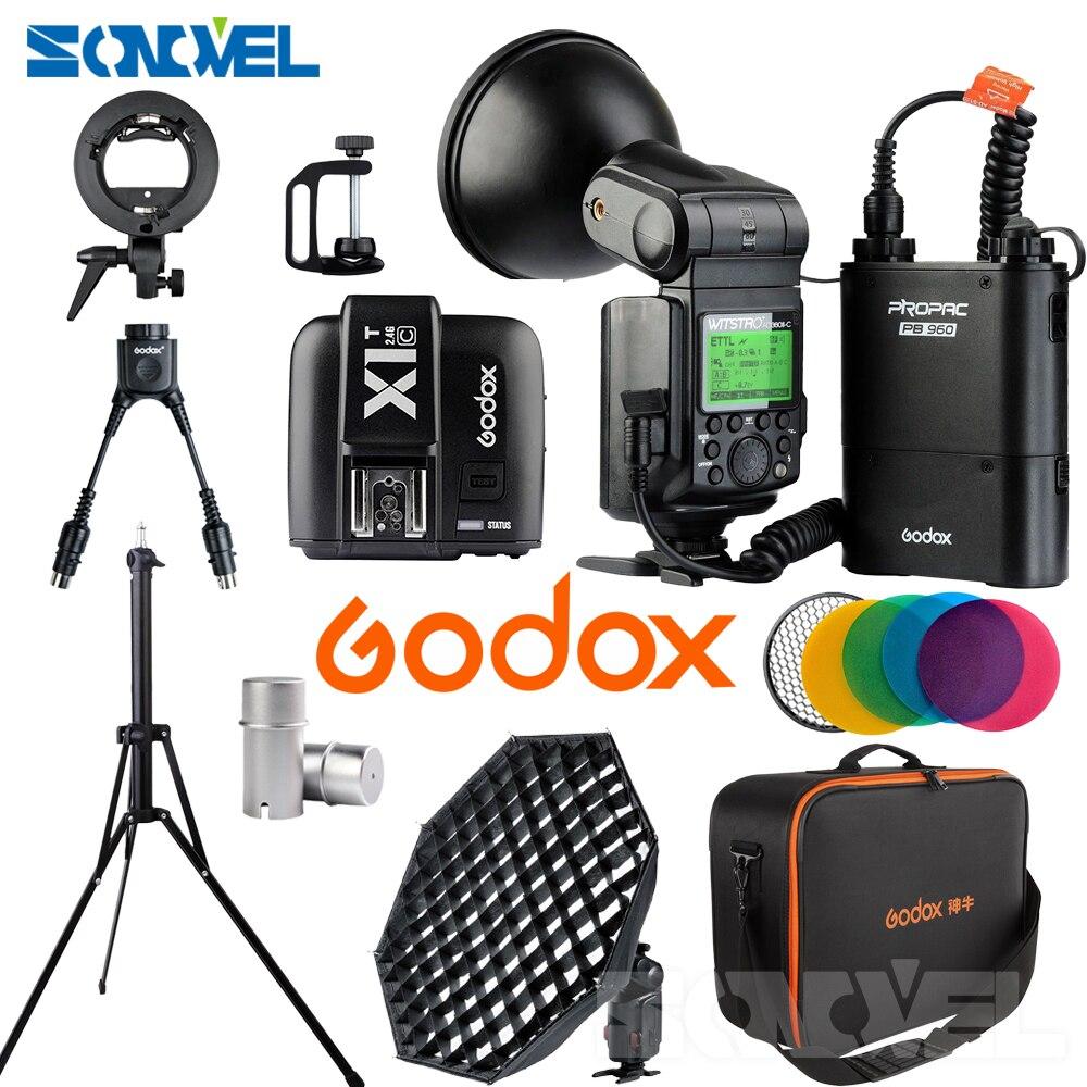 Godox Witstro Speedlite Flash Light AD360II-C 360Ws Wireless 2.4G i-TTL 1/8000S+ X1T-C+AD-S7+DB-02+AD-S11+AD-S15 KIT for Canon free tax to russia new 42cm godox ad s3 beauty dish with grid for witstro speedlite flash ad180 ad360