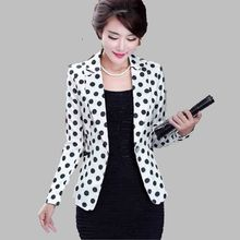 Long sleeve Dot Printed Small Suit New Style Women Autumn Suit Big yards Slim Leisure Suit Office Autumn Fashion Wome Suit G2682