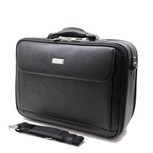 Mens Leather Laptop Briefcase Flap Pocket Zipper Case with Shoulder Strap Black cheap Briefcases Solid Business Polyester Single Soft Handle HHPQJ