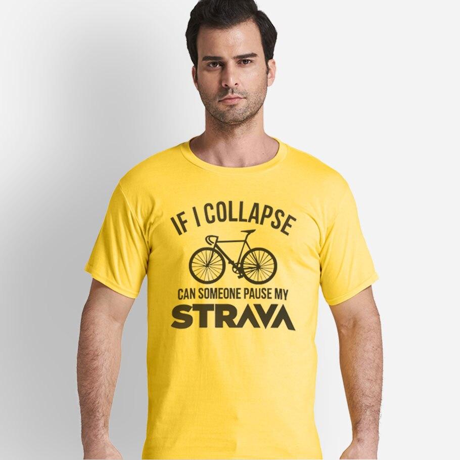 If i collapse can someone pause my strava print casual mens t shirts fashion mens tops men T-shirt short sleeve men tshirt
