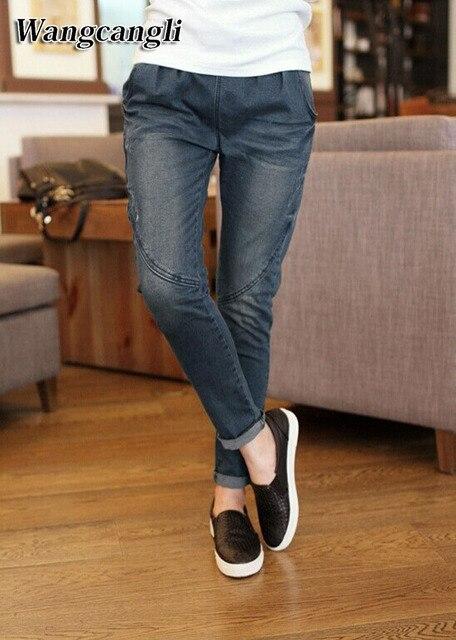 2017 novo Jeans Da Moda Das Mulheres Casuais calças de Brim Das Mulheres  Fatlip 5XL das 13b0c553a78