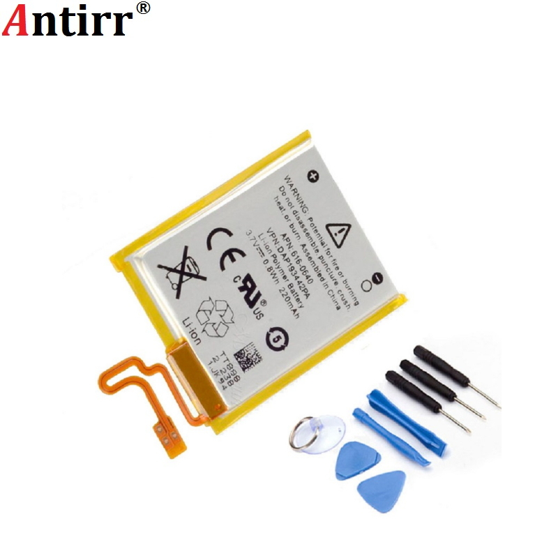 Antirr Новый 3,7 V литий-ионный аккумулятор замена 330mAh для iPod Nano 7 7th Gen с бесплатными инструментами