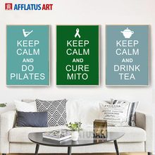 Keep Calm And Drink Tea Quotes Nordic Poster Wall Art Canvas Painting Posters Prints Pictures For Living Room Decor