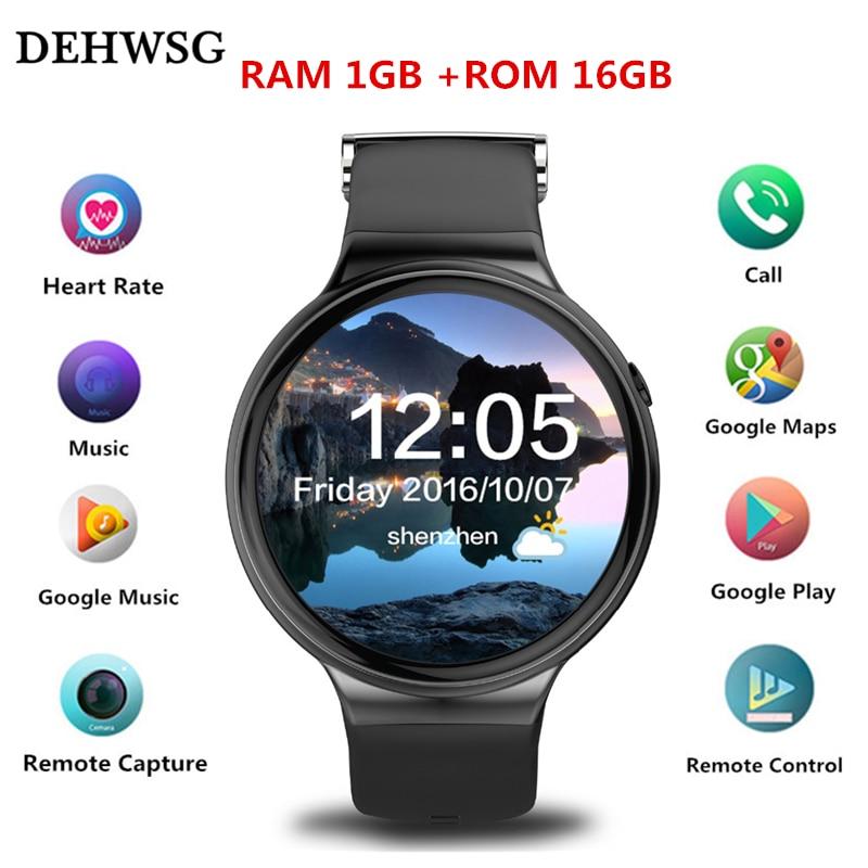 "imágenes para IQI DEHWSG mtk6580 I4 Inteligente Reloj Android 5.1 1 GB RAM 16 GB ROM 1.39 ""curved display monitor de ritmo cardíaco 3G WiFi GPS reloj teléfono"