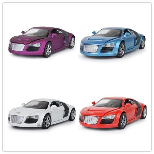 best sale 132 kids toys audi r8 metal toy cars model for children music