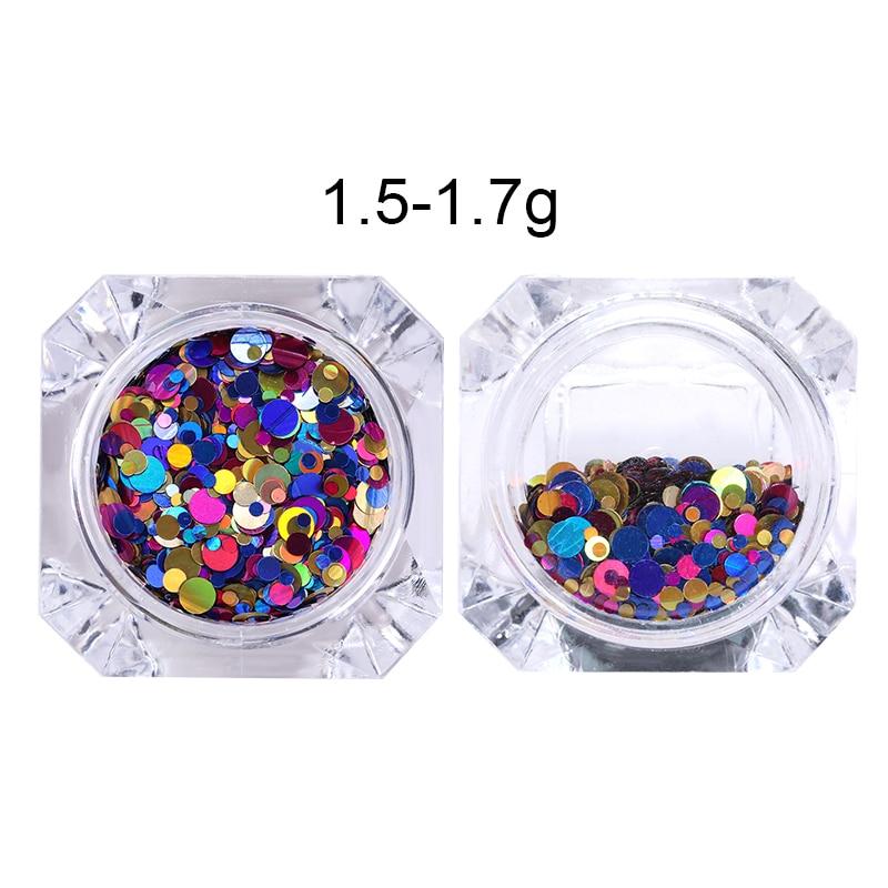 1 Box Glänzende Runde Ultradünne Pailletten Bunte Nail art Glitter - Nagel Kunst - Foto 6