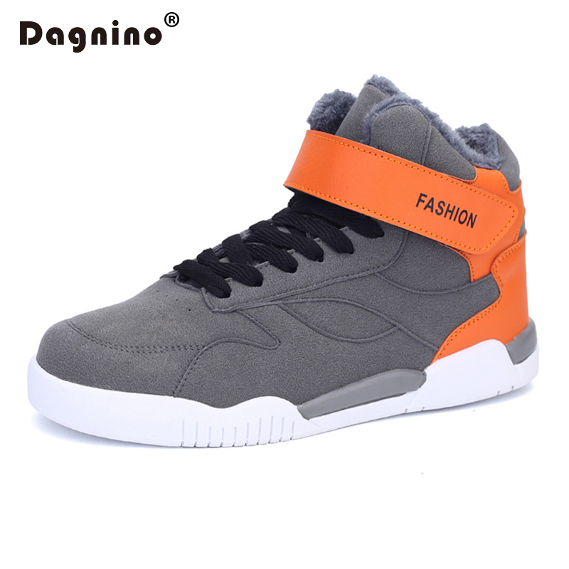 DAGNINO New Winter Warm Men Snow Boots Four Seasons Flat Casual Shoes High Top Fashion Boots For Men Comfortable Zapatos Hombre  plush casual suede shoes boots mens flat with winter comfortable warm men travel shoes patchwork male zapatos hombre sg083