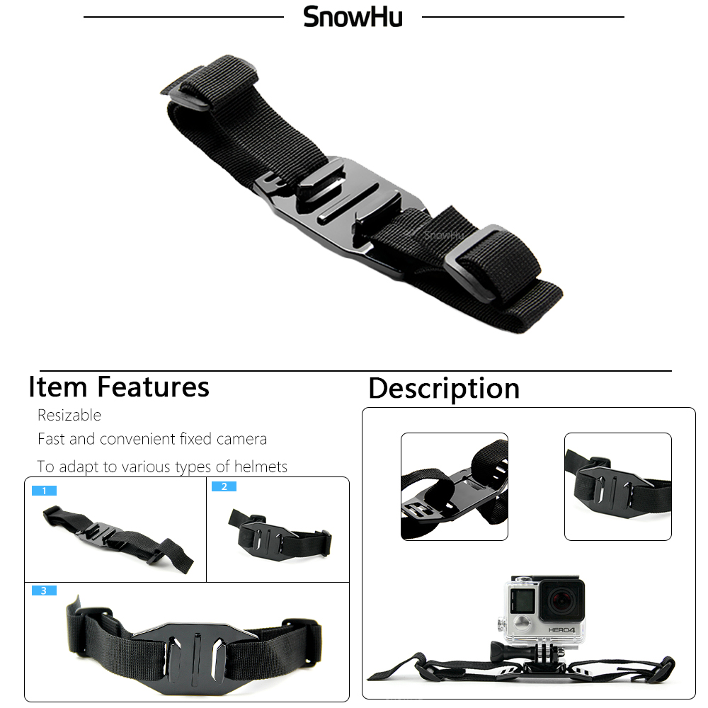 SnowHu for Gopro hero 5 accessories mount kit mini tripod for go pro hero 7 6 5 4 for xiaomi for eken h 9 for sj5000 camera GS24 in Sports Camcorder Cases from Consumer Electronics