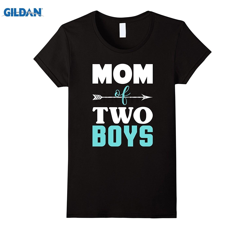 Возьмите мама двух мальчиков-милый День матери мама футболка Топы Для мужчин О-рубашки летнее платье футболка