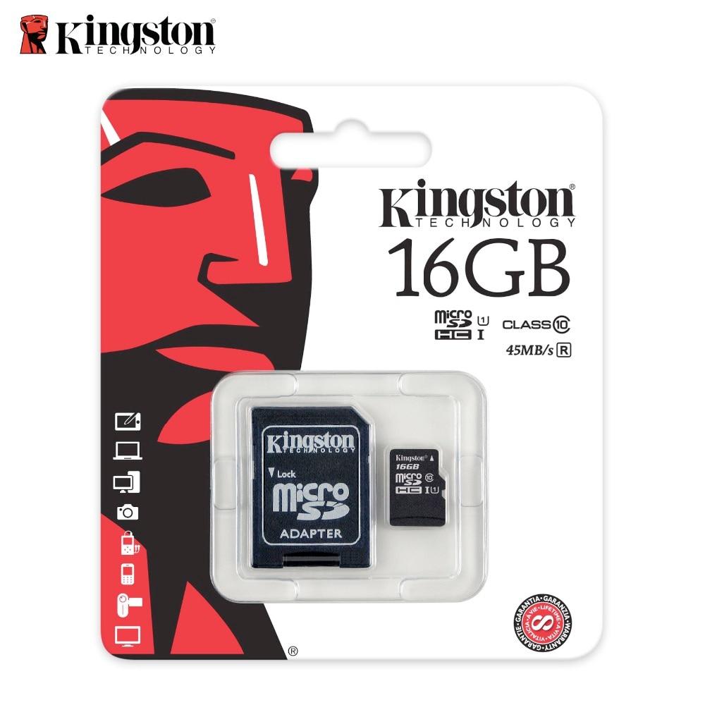 Kingston Memory card 16g micro sd Cards tf card 16GB class 10 mini sd card tarjeta micro sd 16 gb Original belt adapter canon powershot s120 16gb memory card