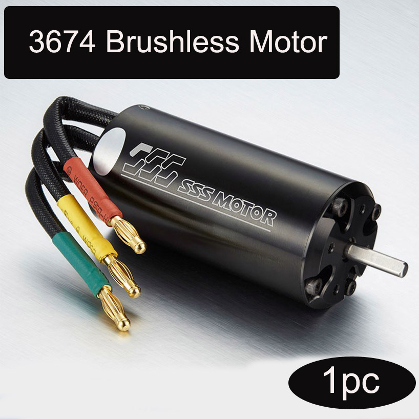 1pc SSS 3674 4-pole Brushless Motor Inner Rotor Water-cooled RC Parts for DIY Toys Boat/Car/Aircraft Model