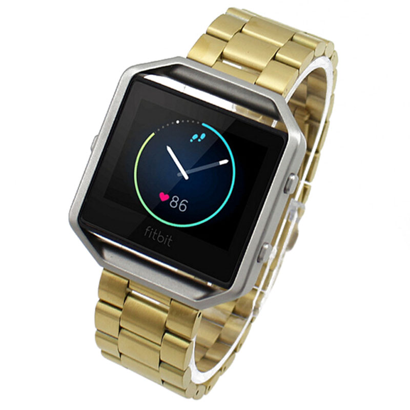 Practical For Fitbit Blaze Smart Watch Stainless Steel Bracelet Strap Watch Band crested stainless steel watch band for fitbit charge 2 bracelet smart watch strap for fitbit charge2 with connector