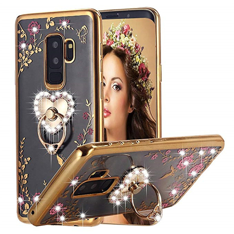 Luxury Ring Case for Samsung Galaxy Note 8 9 5 S8 S9 S10 Plus S10E A8 A6 J3 J4 J6 J8 Plus 2018 J2 Pro 2018 A9 A7 2018 Cover capa image