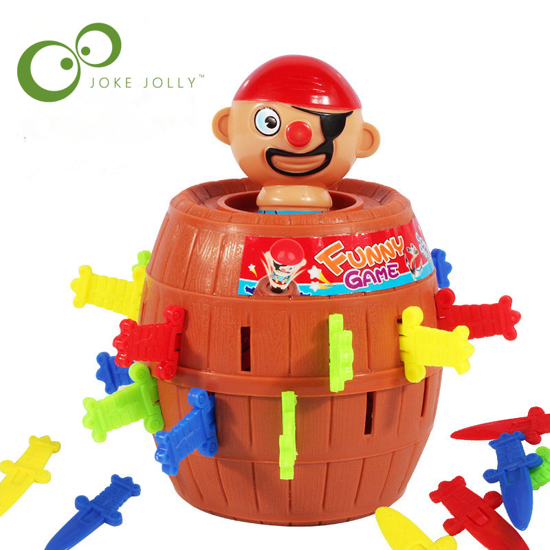 Small or Large size pirate party toys barrel uncle sword game pirates barrels pirate crisis barrels Novel and whimsy toy WYQ kayak suit