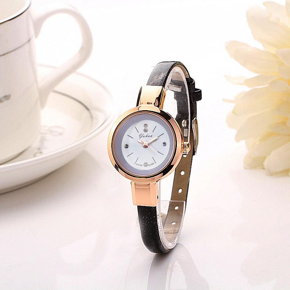 2018  Fashion Women Lady Round Quartz Analog Bracelet Wristwatch Gift Dress Watches Relogio Feminino Watches Women Water Resiste