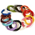 1mm  5m/lot Round Shape  Genuine Leather Cord Jewelry Findings for Bracelet & Necklace DIY Making