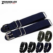 Zhuolei Waterprood e Sweatprood cinta de Nylon de Alta Qualidade com aço Pin Fecho 22mm Azul Preto Exército-verde