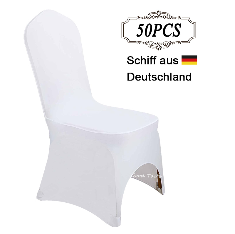 Sent from Germany 50PCS Universal Polyester Spandex Stretch Chair Covers for House de Chaise Mariage decoration in Event Supply-in Chair Cover from Home & Garden    1