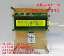 CO2 carbon dioxide detector DIY SenseAir S8 sensor S8-0053, 0-2000PPM