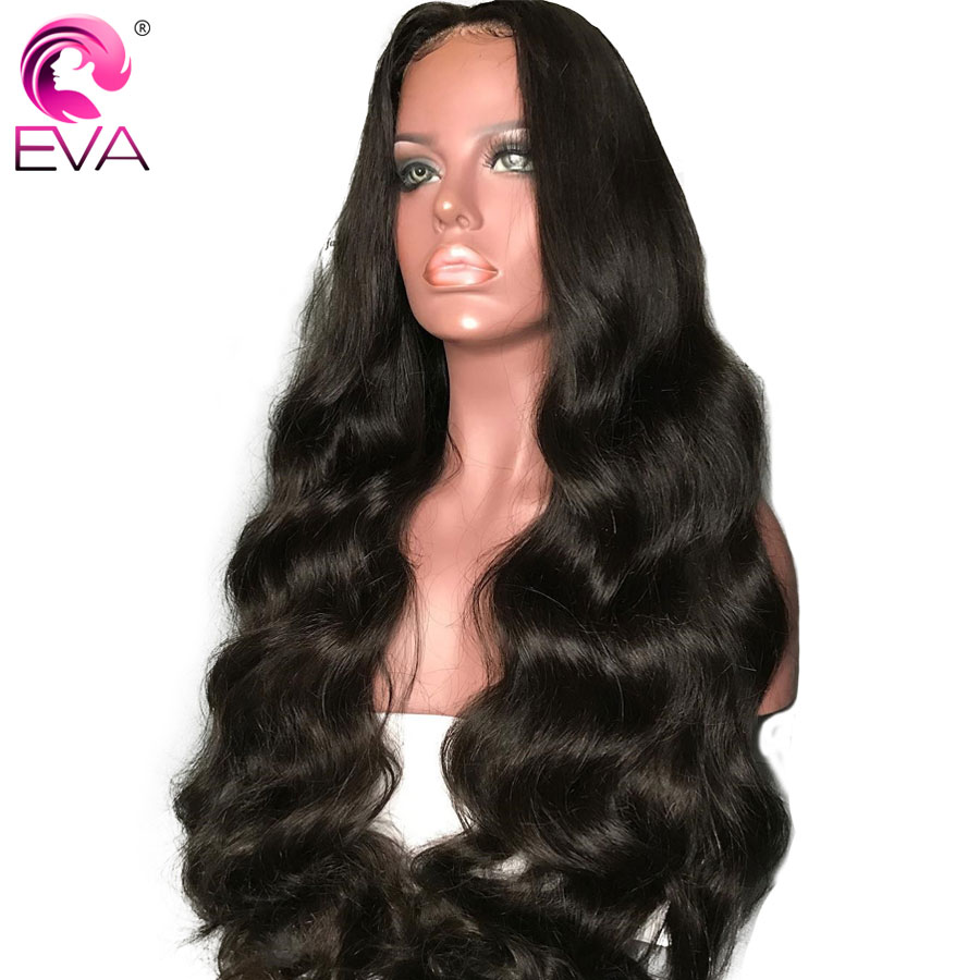 Lace Wigs Hair Extensions & Wigs Dependable Eva Hair 150% Density 360 Lace Frontal Wigs With Baby Hair Ocean Wave Pre Plucked Front Lace Wig For Women Brazilian Remy Hair