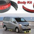 Bumper Lip defletor lábios para Nissan Evalia NV200 Vanette para Chevrolet City Express / Spoiler dianteiro saia / Body Kit faixa
