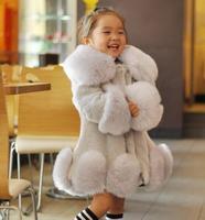 Hot sales 2018 NEW Fashion Girls Faux Fur Jacket Warm Children Winter Jacket Children Tops Patched Fur Jacket for Girl