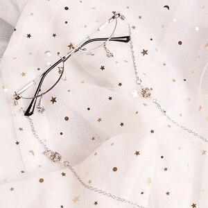Image 4 - Ins Half Doos Versierd Frames Zonder Lenzen Ster Hanger Met Ketting Concave Mannen En Vrouwen Modellering Lolita Bril