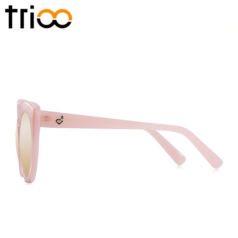 TRIOO UV400 Qoruyucu xanımlar Pişikli göz eynəkləri böyük - Geyim aksesuarları - Fotoqrafiya 4