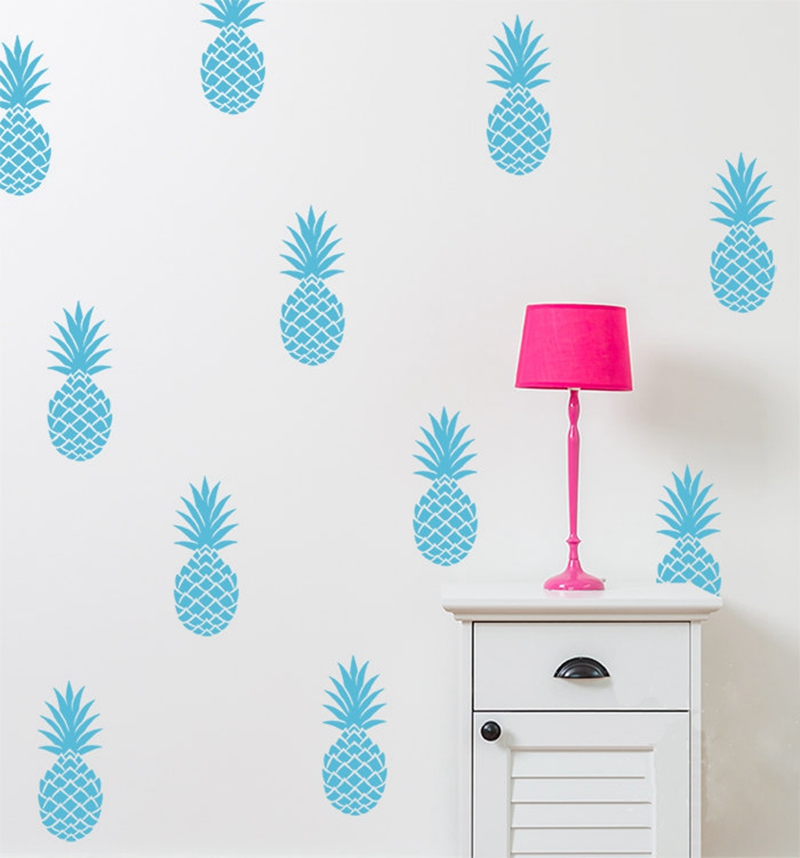 removable pineapples wall decal large 12