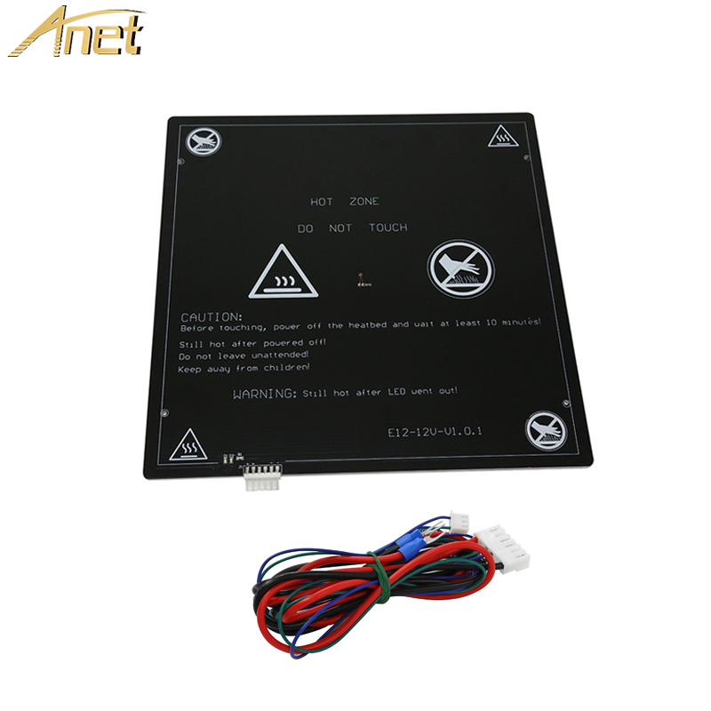 Anet A6 A8 E10 E12 Aluminum Heated Bed with line for Mendel RepRap i3 3d UH