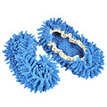 1 Пар Удобная Пыль Mop Тапочки Обувь Floor Cleaner-Синий