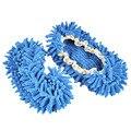1 Pares Cómodo Polvo Fregona Zapatillas Zapatos Floor Cleaner-Azul
