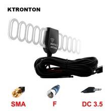 SMA F DC 3,5 разъем 5 м автомобильный DVB-T ISDB-T Цифровое ТВ Активная антенна авто антенна со встроенным усилителем усилитель для автомобиля ТВ коробка