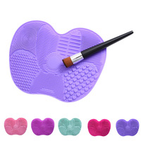 Silicone makeup brush cleaning mat washing tools hand tool large pad sucker scrubber board washing cosmetic.jpg 200x200