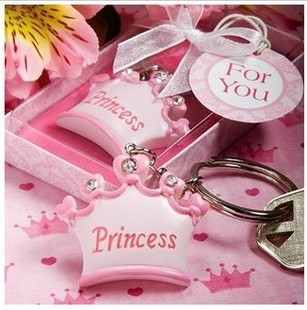Party Favors Festive & Party Supplies Free Shipping Wedding Gift And Giveaways Crown Themed Prince Keychain Diy Baby Party Inspiration Party Gifts 100pcs/lot